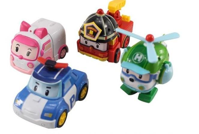 2018 mini car mini robocar poli robot deformation team - Robot car polly ...