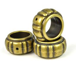 Ccb sciarpa anelli online-Charms in oro perline Charms CCB Archaize Design in bronzo anticato Accessori per anelli grandi PT-635