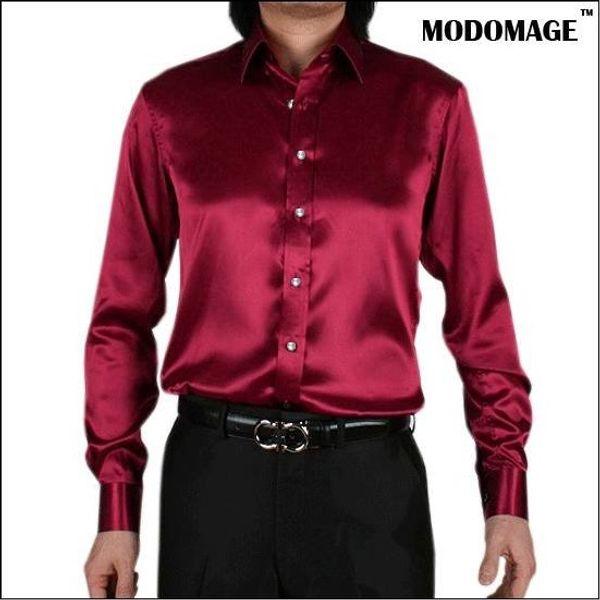 New spring Autumn Fashion Brand Men Clothes Slim Fit Mens Long Sleeve Shirt Men silk Cotton Casual male Shirts Social Plus Size Top M-3XL