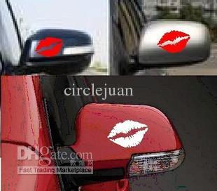Оптовая автомобилей стайлинг красные губы смешные наклейки наклейки 10*5 см окна автомобиля наклейки поцелуй Марк губы автомобиля наклейка / стикер