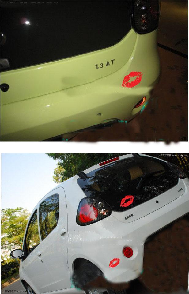 / En Gros Vinyle Drôle De Voiture Stickers Autocollants Rouge À Lèvres Réfléchissant 10 cm Autocollants De Voiture voiture-styling