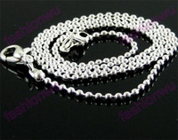 Wholesale silver chain 1.5mm for sale - Group buy 1 MM Silver Plated Ball Chains Hot Jewelry Findings Components