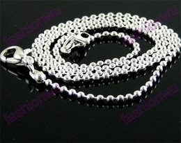 Wholesale sliding pc - 1.5MM Silver Plated Ball Chains 2017 Hot Free shipping 48 Pcs lot Jewelry Findings Components