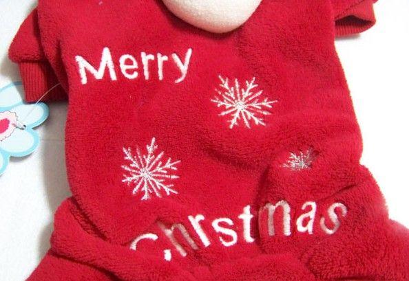 Neueste niedliche Haustier Hund Bekleidung Winter Kleidung Mantel Frohe Weihnachten Kleidung Tuch Mantel rot lila Geschenk
