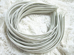 Wholesale Wholesale Plain Satin Headbands - Plain Satin Covered Headband Choose ONE Headband 5mm Wide ,white-colored 100pcs lot