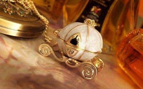 15 stks * Vintage pompoen wagen locket ketting witte kleur kan openen