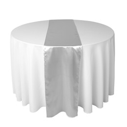 30 x 275 cm Sliver Satin Table Runner Pour la réception de mariage ou de douche Xams Décorations ? partir de fabricateur