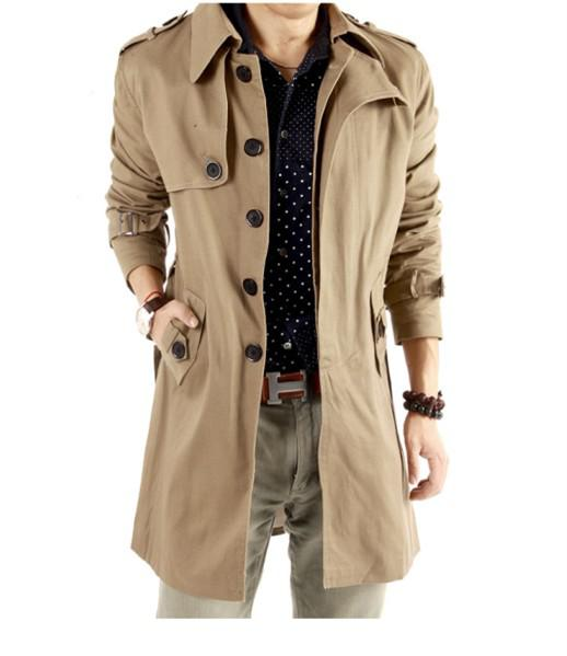 2017 2014 New Arrival Long Trench Coat For Men, Outerwear Male ...
