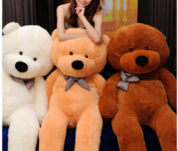 100cm Teddy Bear Plush Toy White Light Brown And Dark Brown In Stock