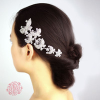 Wholesale butterfly hair comb wedding for sale - In stock Crystal Metal Six Butterfly Wedding Bridal Party Hair accessory Bridal Headwear