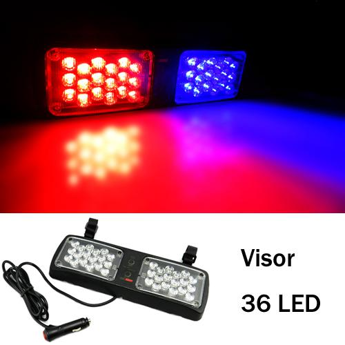Car Strobe Lights 36 Led Flash Warning Police Firemen Auto