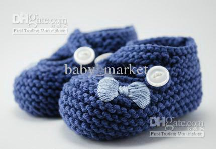 Handknit baby shoes cotton yarn crochet boots with chart 30/lot custom toddler shoes