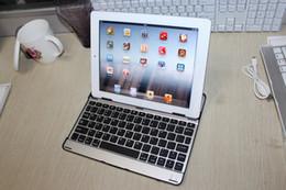 apple ipad bluetooth keyboard stand Promotion Slim Support de clavier en aluminium sans fil Bluetooth pour iPad Air Mini 2 3 5 9,7 pouces Housse de protection QWERTY