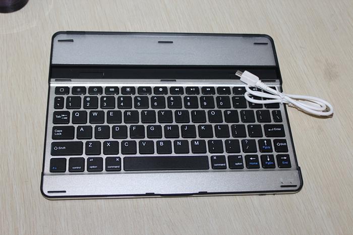 Slim Aluminium Wireless Bluetooth-tangentbordshållare till iPad Air Mini 2 3 5 9,7 tum QWERTY Case Cover