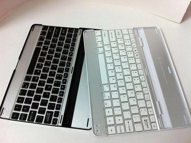 iPad 에어 미니 2 3 5 9.7 인치 QWERTY 케이스 커버에 대한 슬림 알루미늄 무선 블루투스 키보드 스탠드 홀더