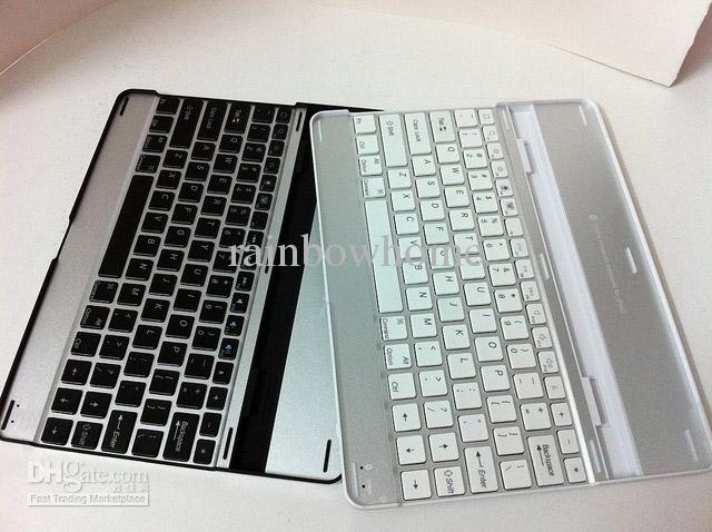 Slim Aluminum Wireless Bluetooth Keyboard Stand Holder for iPad Air Mini 2 3 5 9.7 inch QWERTY Case Cover