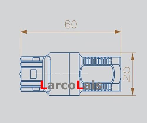 Kırmızı Amber Beyaz Mavi T20 7440 7.5 W SMD Araba LED Dönüş Fren Ters Kuyruk Singal Ampul Lamba Çevirin 12 V