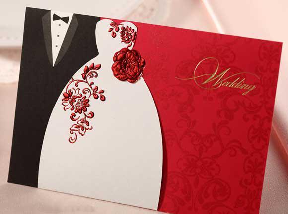 Wedding Cards Invitation BH1066 Come