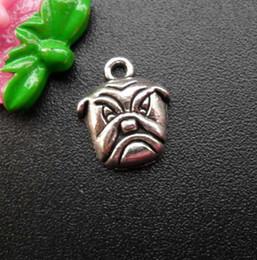 Wholesale 14k Gold Findings Wholesale - Fashion Jewelry finding accessories DIY component dog charms fit bracelet pendant charms bracelet A3B6F 16x13.5mm 40pcs lot