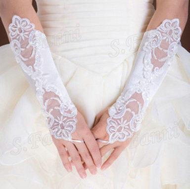أفضل مبيعات! الدانتيل أزياء الزفاف قفازات الزفاف اكسسوارات الزفاف رخيصة قفاز ملابس رسمية