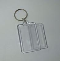 Wholesale insert photo key chains for sale - Group buy 10X Blank Acrylic Rectangle Keychains Insert quot x quot Photo Keyrings Key ring chain