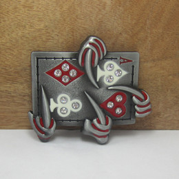 Discount smoothing card - BuckleHome Fashion playing card belt buckle with pewter finish plating FP-02121 free shipping