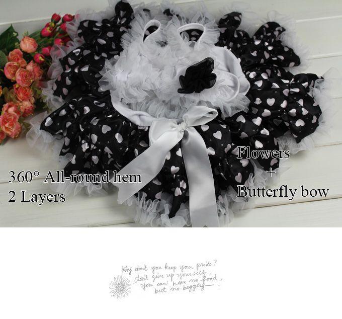 New Ball Gown Above-Knee Flowers Girl Dresses Black Dot Suspender Patchwork Tutu Wear Kids 1-6Y Children Clothes TD20503-10