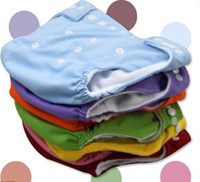Wholesale Diapers Inserts - Lot 10 Pcs One Size Adjustable Diapers Baby Washable Cloth Diapers Nappies + 10 Inserts