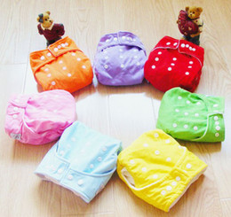 Wholesale Christmas New Year Covers - Wholesale 20 Pcs One Size Adjustable Baby Washable Cloth Diapers Cloth Nappy New + 20 Inserts