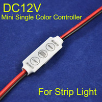 Wholesale Single Light Socket - DC12V Mini Controller, 4A *3CH, LED Single Color Controller for SMD 3528  SMD 5050 Strip light RGB Controller with Power Supply Socket.