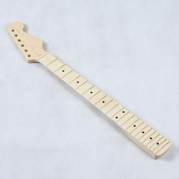 Wholesale Guitar St Maple - Replacement Maple Strat Style Guitar Neck Fingerboard for ST Strat Stratocaster Electric Guitar Necks I114