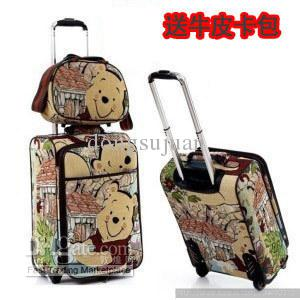 Lovely The Pooh Picture Box Travel Bags Trunk Lockbox 20 Inch And 24 Inch  Board Chassis Cheap Duffle Bags Backpacks From Dongsujuan 666196212