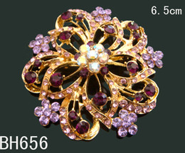 Red Indian Costumes Australia - Wholesale Hot Sale Gold plated crystal rhinestone costume pin brooch wedding jewelry Free shipping 12pcs lot Mixed colors BH656