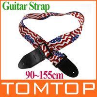 Wholesale Electric Guitar Flag - Adjustable Buckle Electric Guitar strap Acoustic Straps American Flag Print I120