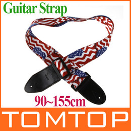 Wholesale Electric Guitar Flag - Adjustable Buckle Electric Guitar strap Acoustic Straps American Flag Print I120