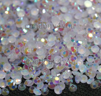 Wholesale Invitations Bead - 2000pcs 3MM Resin Jelly Purple AB Beads Flatback 14-Facets Scrapbooking Wedding Invitation