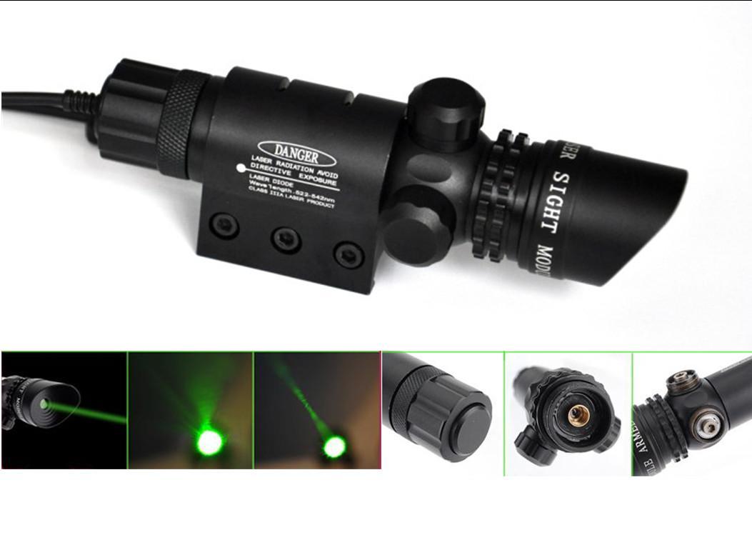 Green Laser Dot Sight Scope 2 Schalter Mount Rail Jagd Luftgewehr Gun Box Set