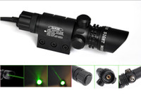 Wholesale Laser Gun Sight Green - Green Laser Dot Sight Scope 2 Switches Mount Rail Hunting Air Rifle Gun Box Set