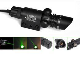 Wholesale Air Rifle Mounts - Green Laser Dot Sight Scope 2 Switches Mount Rail Hunting Air Rifle Gun Box Set