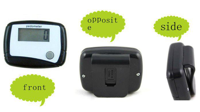 2012 New fashion Pedometer LCD Step Counter LCD Walking Run Pedometer (1 button) FREE SHIPPING