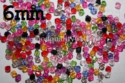 6mm 5301 Bicone facettes cristal perles en vrac couleur mélangée pour l'artisanat de mariage