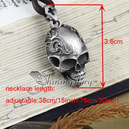 Wholesale Cheap Leather Necklaces - Skull victorian gothic jewelry antique style jewellery Cheap china jewelry fashion jewelry