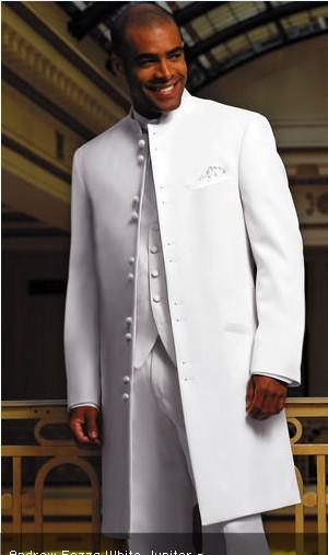White Long Coat Groom Tuxedos Groomaman Blazer Men'S Wedding Dress ...