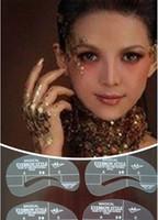 modelos de sobrancelha grátis venda por atacado-Frete grátis !! Sobrancelha Template Stencil Maquiagem Shaping DIY A1-A4 beleza meninas ferramentas