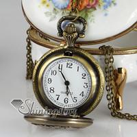 relojes de bolsillo de aves antiguos al por mayor-Reloj de bolsillo de pocketwatches de calado de aves para mujer, reloj colgante antiguo