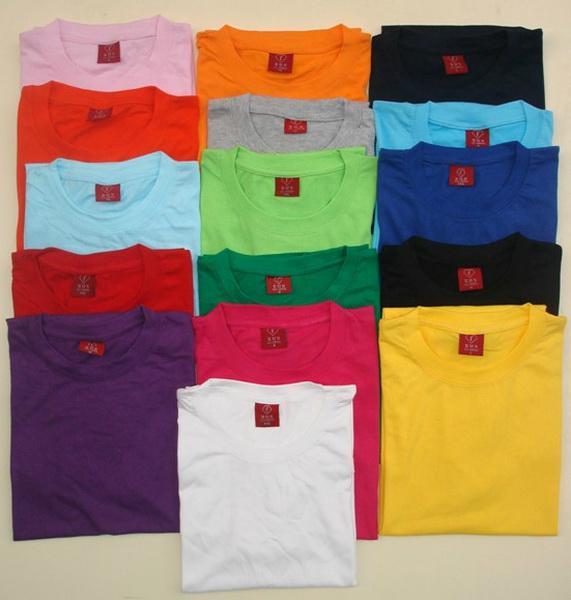사용자 지정 T 셔츠 라운드 넥 라인 색상 선택 양질 사용자 지정 만든 t 셔츠 / 작업 셔츠 무료 배송