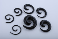 Wholesale Size Stretcher Plug - Mixed Sizes Spiral Ear Plugs Expander Body Piercing Ear Stretcher