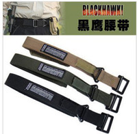 Wholesale Men Casual Brown Belt Canvas - Brand Tactical New Military Blackhawk CQB Belt Outside Strengthening Canvas Waistband