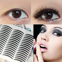 Wholesale Eyelid Transfer - 28PC PACK black stripe make up eyeliner sticker Eyelid transfer Tape Eye Shadow Smoky Tattoo