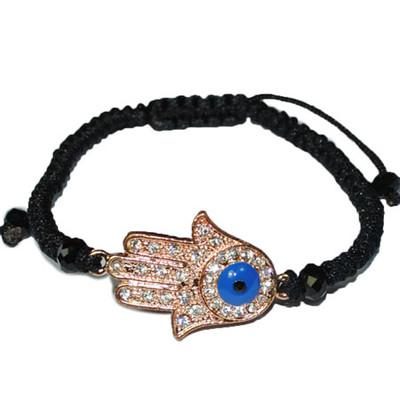 clear crystal gold silver tone evil eye connector hand hamsa bracelet kabbalah charms jewelry20/60pc